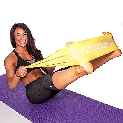 Amazon.com : Functional Fitness Premium Flat Yoga Band ...