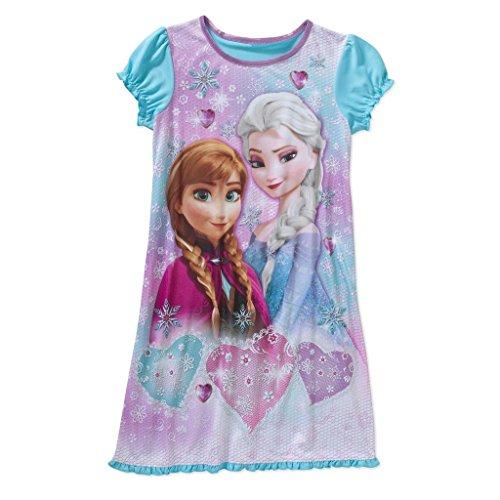 Girls' Disney Frozen Is In Sleep Gown , 7-8, Blue/Pink (Disney Frozen Gowns)