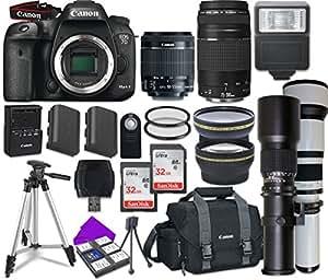 Canon EOS 7D Mark II Digital SLR Camera Bundle with Accessory Lens Kit