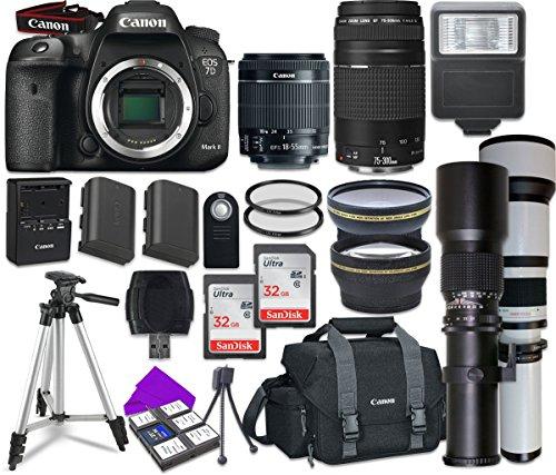 Canon EOS 7D Mark II Wi-Fi Digital SLR Camera Bundle Plus Accessory Lens Kit