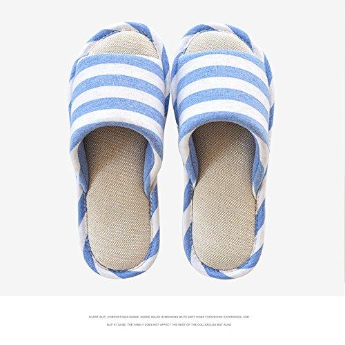 LaxBa L'hiver au chaud, l'hiver Chaussons Chaussons moelleux Accueil chaleureux en hiver, chaussures antiglisse Chambre Chaussons Light blue41/42 (habituellement recommandé de porter 40-41)