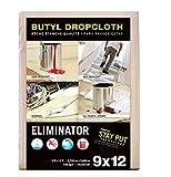 Trimaco 80321 Eliminator Butyl Drop Cloth, 9-Feet x 12-Feet