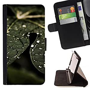BullDog Case - FOR/Samsung Galaxy Note 4 IV / - / Plant Nature Forrest Flower 74 /- Monedero de cuero de la PU Llevar cubierta de la caja con el ID Credit Card Slots Flip funda de cuer