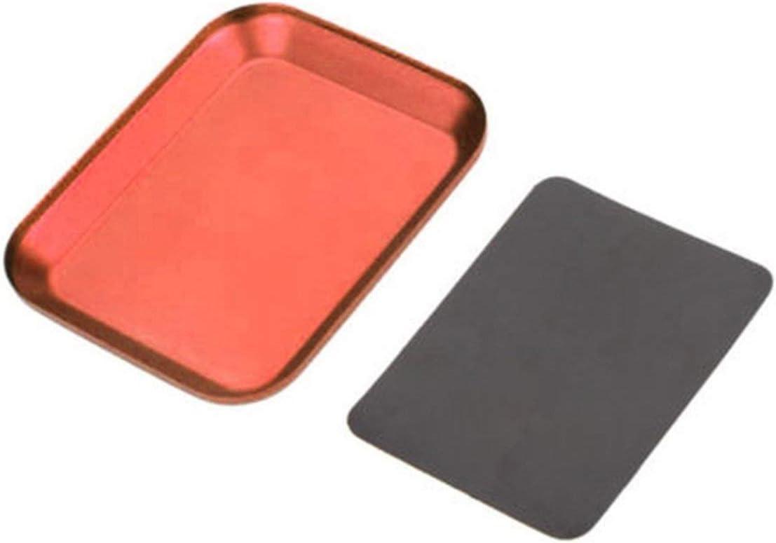 EmNarsissus Useful Aluminum Screw Tray with Magnetic Pad for RC Model Phone Car Repair Tool