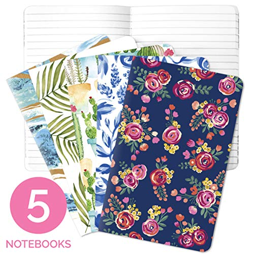 bloom daily planners Field Note Book - Mini Notebook Bundle Pocket Travel Trip Journal - 3.5