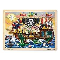 Melissa & Doug Deluxe - Puzzle de 48 piezas de madera - Piratas
