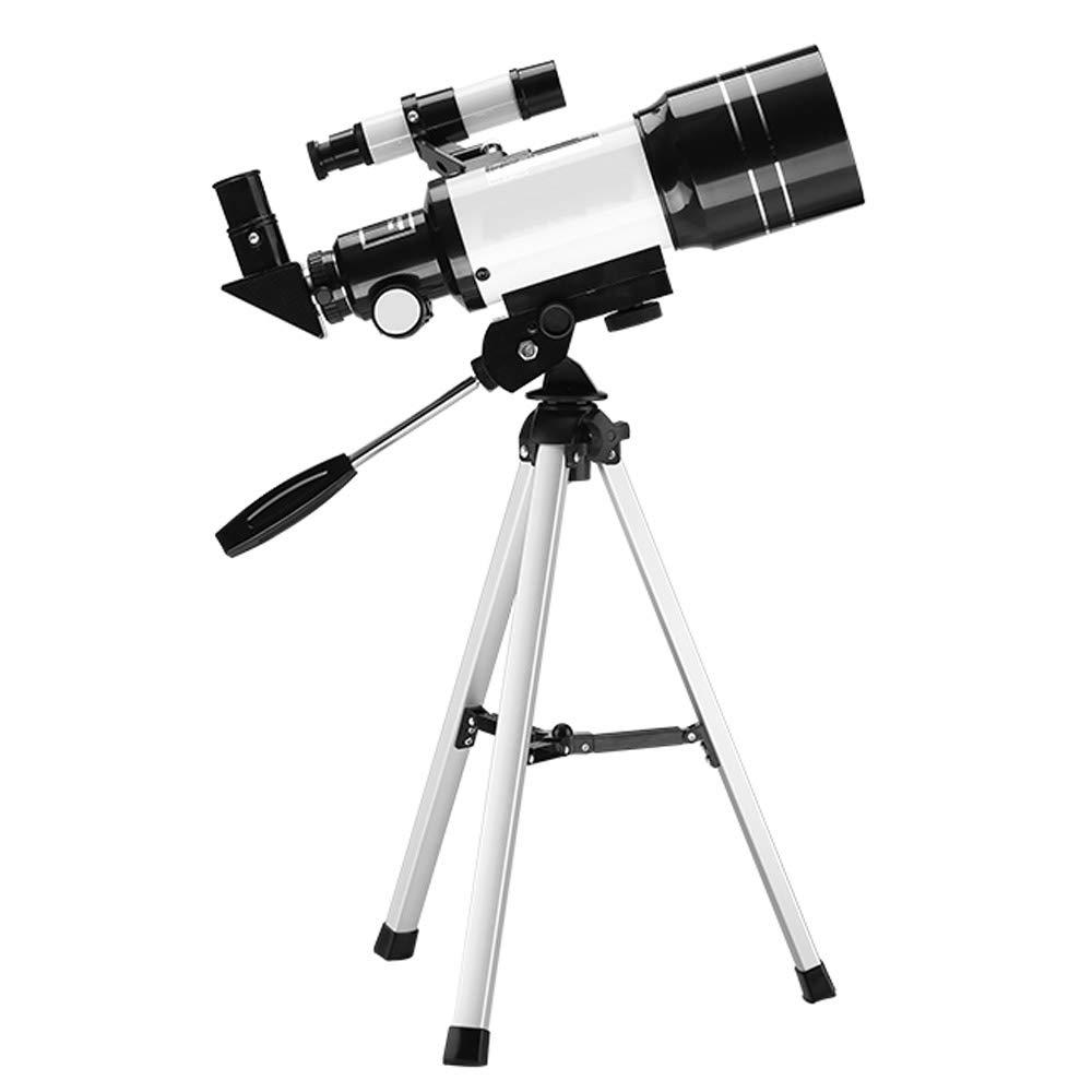 TZZ Telescopio monoculare, Visione delle Stelle con treppiede a Due in Una monoculare ad Alta Potenza (Nero + Bianco)