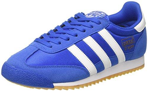 adidas Men's Dragon OG, BLUE/WHITE/GUM, 10.5 M (Blue White Gum)