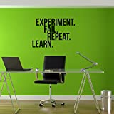 Pulse Vinyl Vinyl Wall Art Decal - Experiment Fail Repeat Learn Motivational Quote - 16'' x 23'' - Home Work Office Wall Decor - Inspirational Sayings Words - Removable Sticker Decals