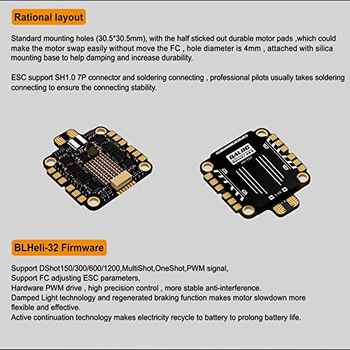 Wikiwand DALRC Rocket 45A 4 in 1 ESC Brushless 3-6S Blheli_32 LIHV DSHOT1200 for Drone by Wikiwand (Image #3)
