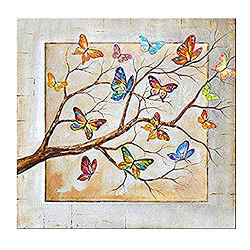 (Cinhent Diamond Painting, 5D Embroidery Cross Stitch Craft, Butterfly and Dead Wood, 30 × 30 cm, Home/Office / Hotel/Bathroom Wall Decor Art Gifts, Life and Hope, Relieve)