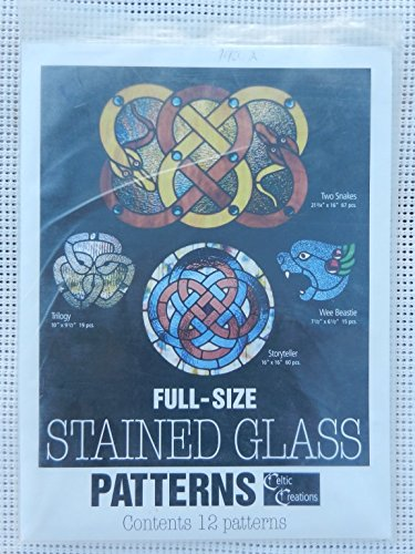12 Full-Size Stained Glass Patterns - Celtic Creations by Sunlight Studios