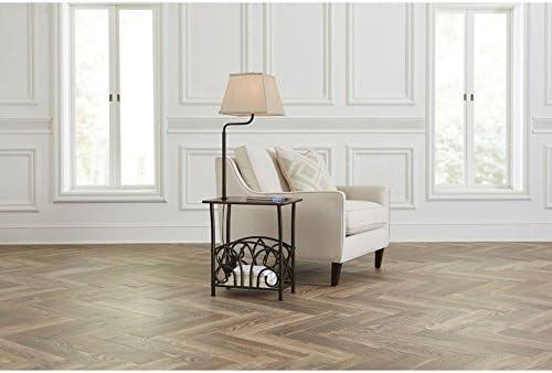 Portfolio 54-in Bronze 3-Way Shelf Built-in Table Floor Lamp