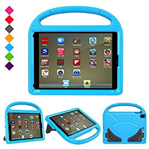 "New iPad 9.7 Inch 2017 / iPad Air 2 / iPad Air Case, Ubearkk Kids Friendly Light Weight Shock Proof Convertible Handle Stand Cover for Apple New iPad 9.7"" 2017 Model, iPad Air 2, iPad Air (Blue)"