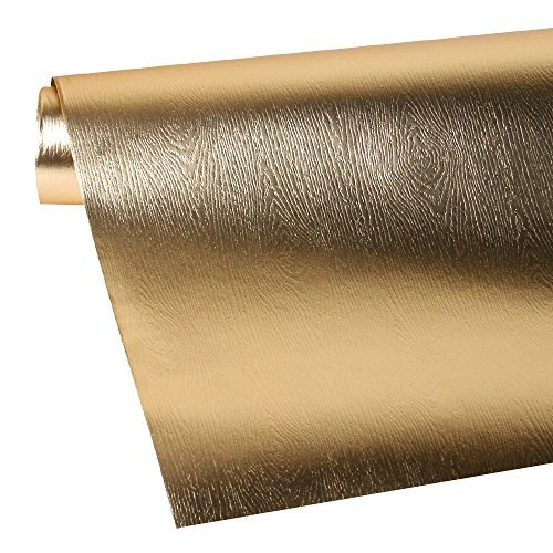 LaRibbons Gift Wrapping Paper Roll - Premium Eco-Friendly Wood Grain Basics - Glossy Gold for Birthday, Holiday, Wedding, Baby Shower Gift Wrap - 30 inch x 16.5 feet by LaRibbons (Image #6)