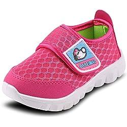 DADAWEN Baby's Boy's Girl's Mesh Light Weight Sneakers Running Shoe Rose Red US Size 6 M Toddler