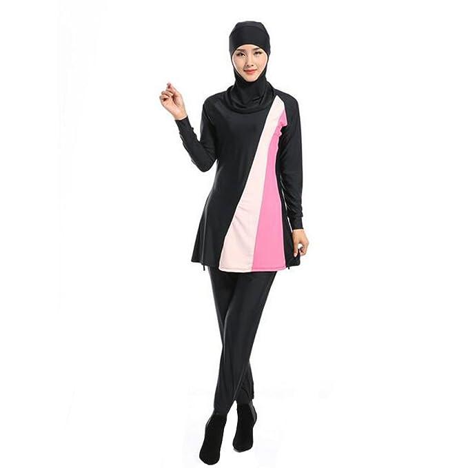 Ladies Burkini Modesty Swimsuit// Swimming Costume Attached Hood Muslim Islamic