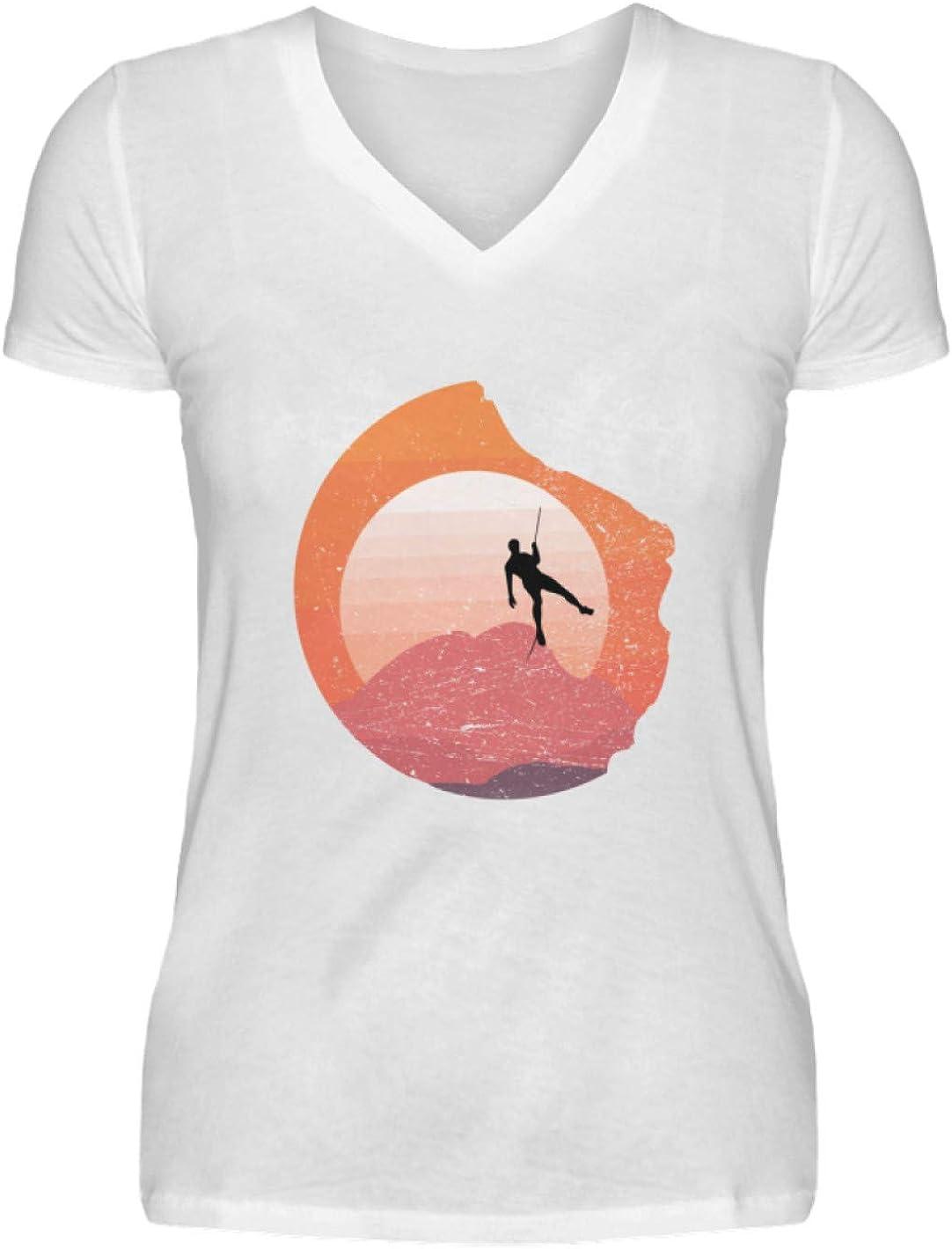 Generisch Camiseta para mujer con cuello en V, para escalada ...
