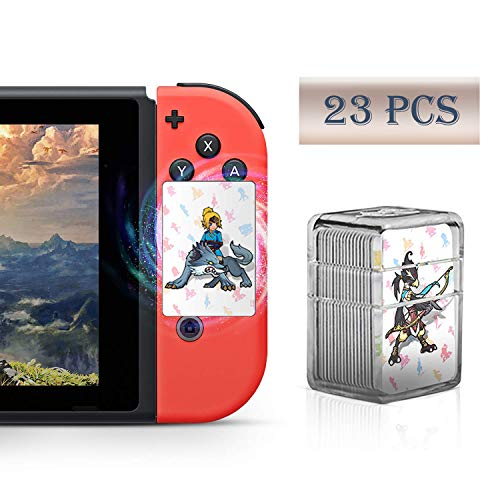 23 Pcs Full Set NFC Tag Game Cards for The Legend of Zelda Breath of The Wild Switch/Wii U- 23pcs Cards Crystal Caser