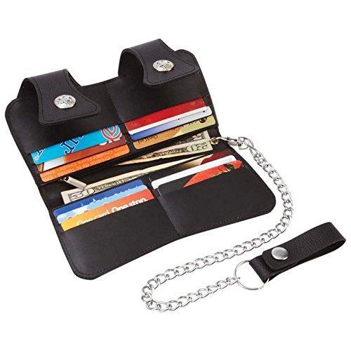 Leather Double Trucker Wallet Billfold