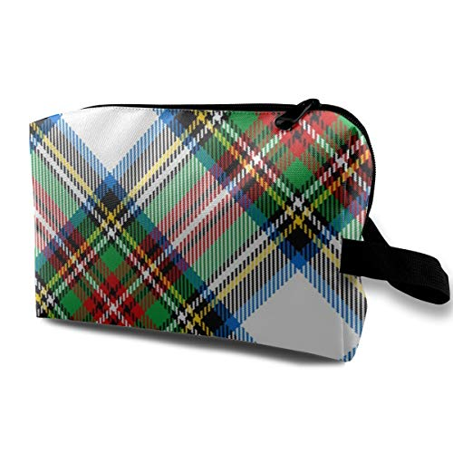 06629652 Bias Tartan Stewart Dress_20969Waterproof Cosmetic BagMake-up Tools And Brushes For BeautyLarge CapacityWomen And GirlsBlack ()
