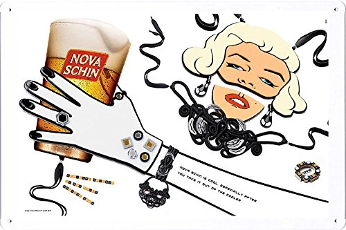 tin-sign-metal-poster-plate-8x12-of-nova-schin-beer-sao-paulo-fashion-week-3-by-food-beverage-decor-