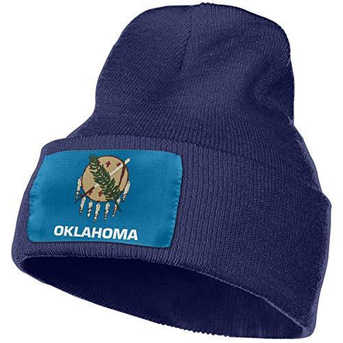 MASDUIH Rich Cotton Oklahoma State Flag Beanie Caps Warm Soft Hats Knit Skull Caps