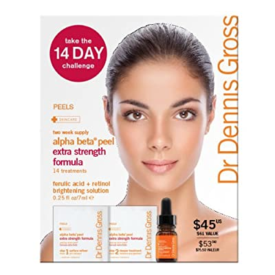 Dr. Dennis Gross Skincare Alpha Beta Daily Face Peel 14 Day Challenge, Extra Strength