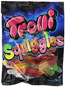 Trolli Squiggles Sour Gummy Candy, 5 Ounce Bag, Pack of 12