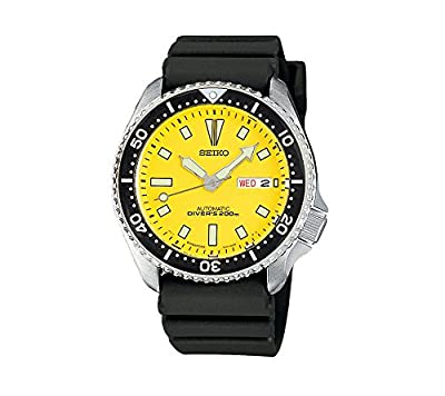 Seiko Men's Yellow Dial Automatic Divers Watch
