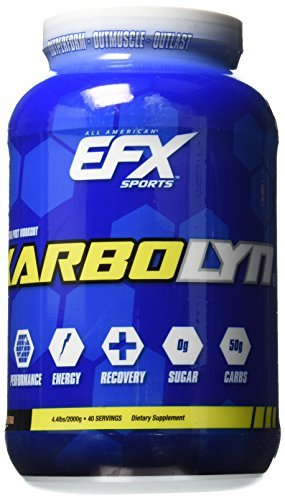 EFX Sports Karbolyn Fuel Complex Carbohydrate Post Workout & Pre Workout Powder Clinically Tested Intense Energy Supplement Shake (Neutral, 4.4 lbs)