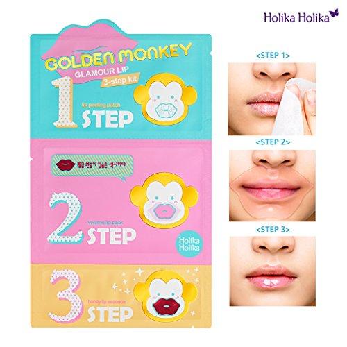 Αποτέλεσμα εικόνας για Holika Holika Golden Monkey Glamour Lip 3-Step Kit