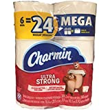 Charmin Ultra Strong Mega Roll Toilet Paper, 24 Count (2 Pack(24 Family Rolls))