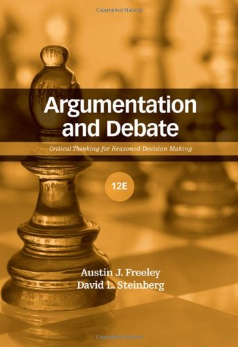 Argumentation and Debate: Critical Thinking for Reasoned Decision Making