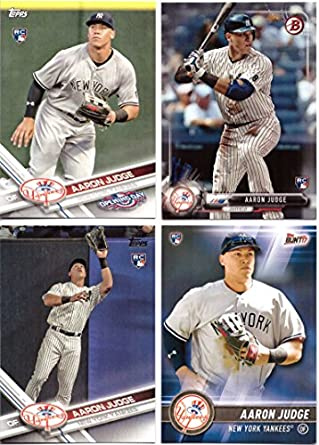 Aaron Judge Baseball Rookie Card Lot Of 4 2017 Bowman 2017 Topps 2017 Topps Bunt And 2017 Topps Opening Day