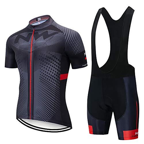 Fietspakken voor heren Fietsshirt met korte mouwen + 3D gevoerde rijlegging Sneldrogende fietskledingset voor…