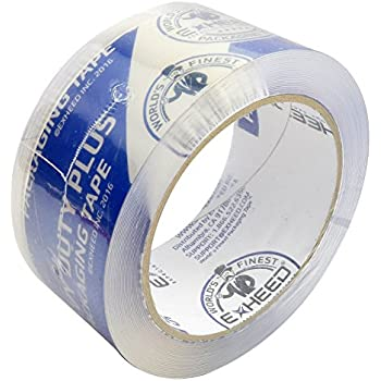 EXHEED Packing Tape Extra Thick 3.1 Mil Packaging, Shipping, Sealing for Box, Package, Storage and Moving Ultra Clear, Heavy Duty Plus, Commercial and Industrial Grade Tape