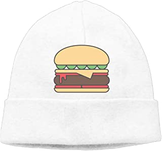 Men's Black Bean Burgers Classic Skiing Black Beanies Caps