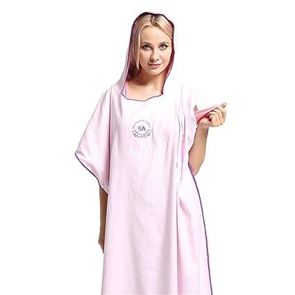 Microfibra Adulto Wen And Women Cambio de túnica Toalla Poncho Con Capucha, Albornoz de secado