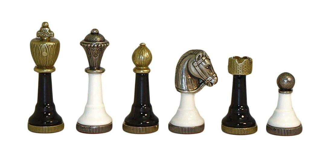Metal Men Chessmen in Black / White