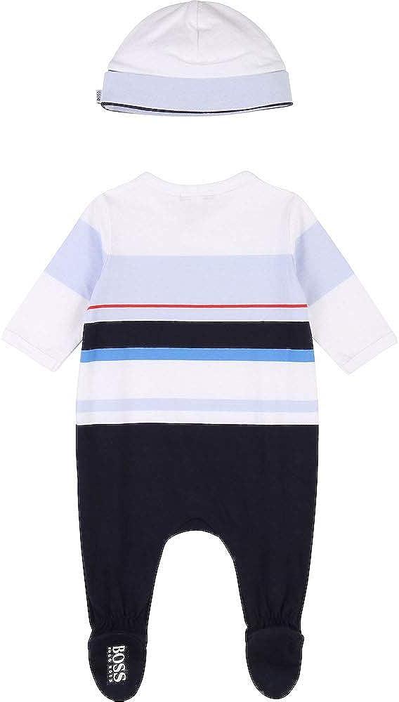 BOSS Baby 2tlg M/ütze Jungen Outfit Pyjama J98275 Marine Set Strampler