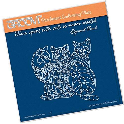 Groovi Embossing A5 Square ~ 3 Cats, GRO40445 by Groovi