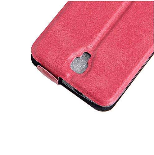 Funda Lenovo Vibe A,Manyip Caja del teléfono del cuero,Protector de Pantalla de Slim Case Estilo Billetera con Ranuras para Tarjetas, Soporte Plegable, Cierre Magnético G