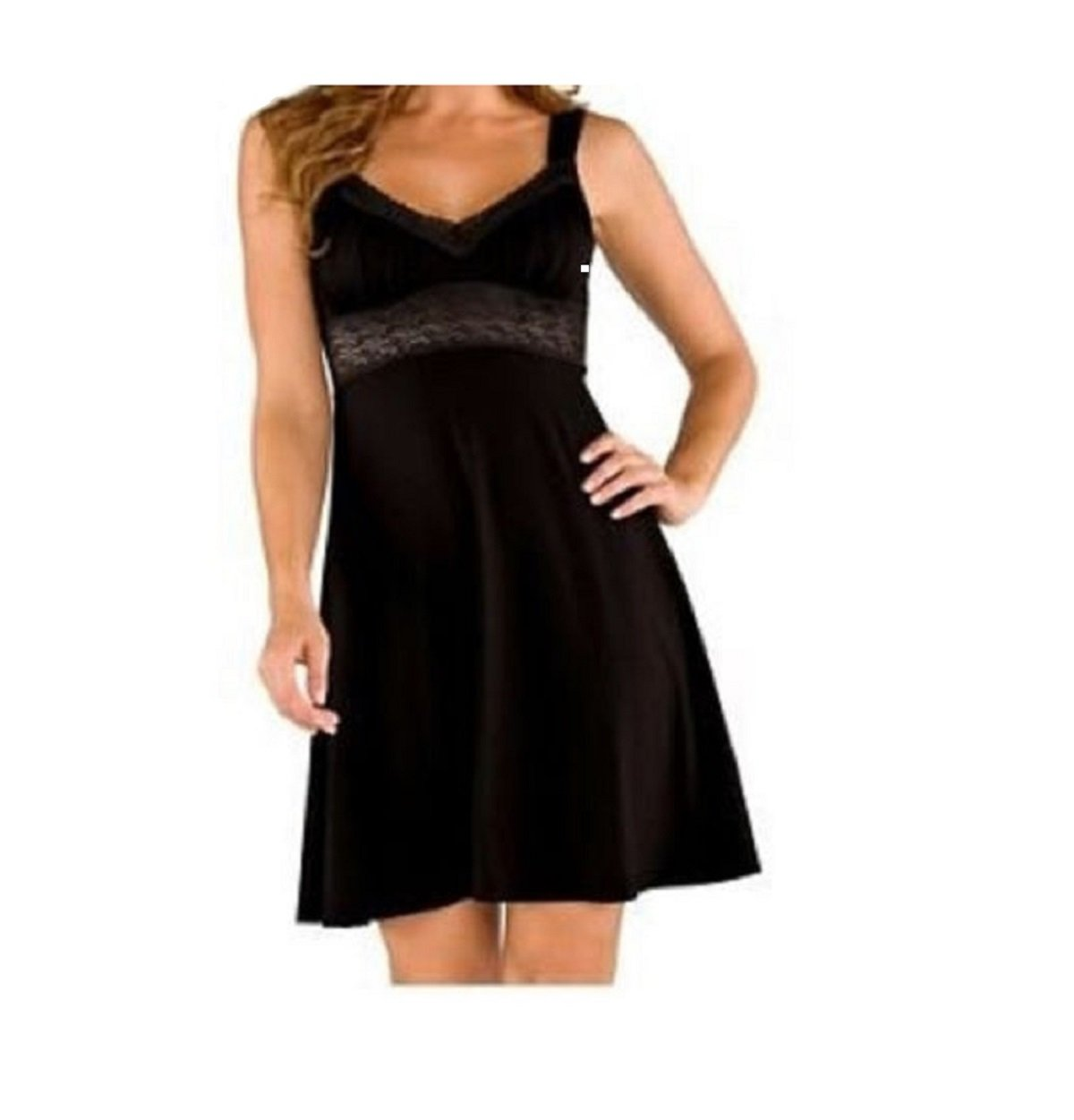 Cosabella Laila Chemise Style LAILA2701 (Large, Black) by Cosabella