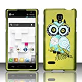 Funky Owl Rubberized Hard Case Cover for Lg Optimus L9 P769(t Mobile)