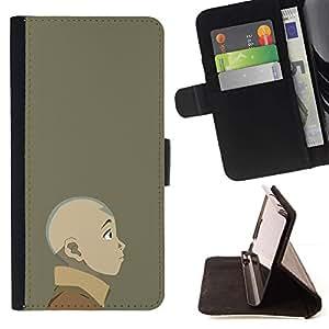 Momo Phone Case / Flip Funda de Cuero Case Cover - Joven dobladora de aire;;;;;;;; - Samsung Galaxy S4 IV I9500