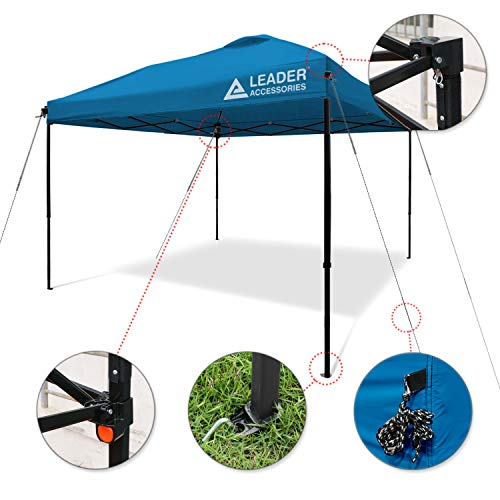 Leader Accessories Instant Pop Up Canopy Straight Leg Wheeled Carry Bag Included