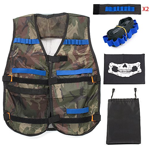 Battle Camo (Yansion Tactical Vest Kit for Nerf Guns N-Strike Elite Series, Water Guns and All Battle Game(Camouflage))