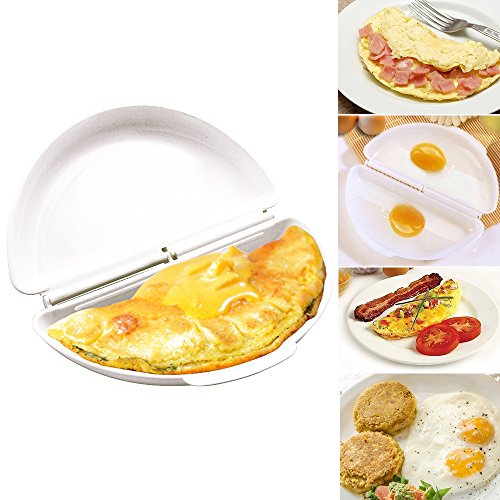 (Microwave Steamed Eggs Molds Omelet Egg Tray Cooker Pan Bowl Maker Tools Kitchen Accessories(1pcs,White))