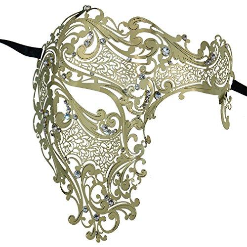 - Coddsmz Half Face Mask Lady Masquerade Halloween Mardi Gras Laser Cut Mask